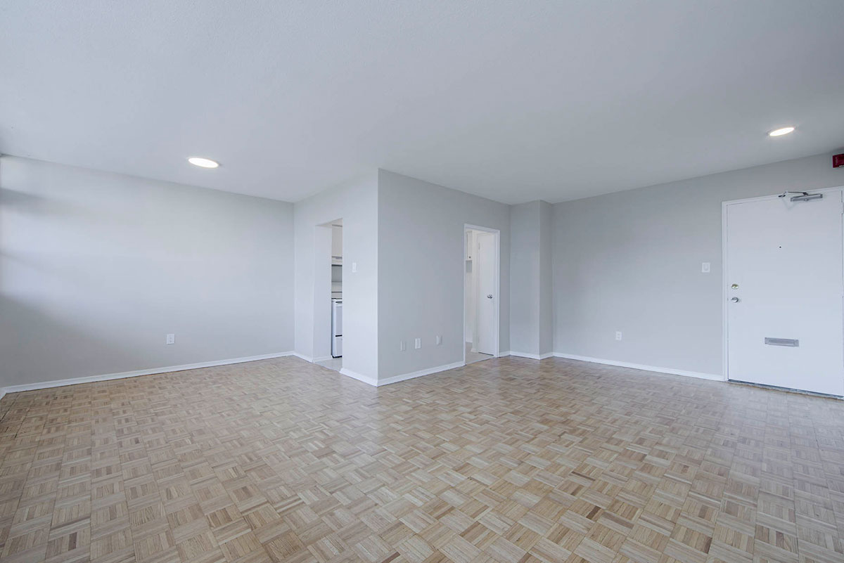 Open concept dining and living room - Humber River Apartments near Keele & Wilson