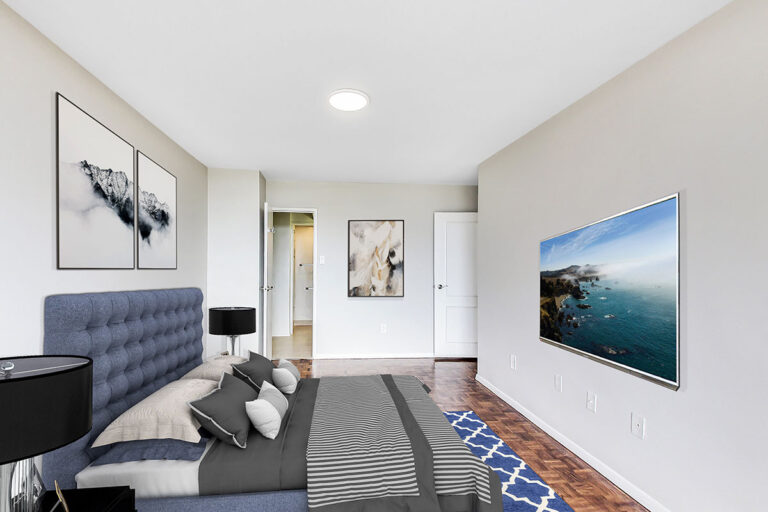 Large bedroom in luxury two bedroom apartment - The Summerhill at Yonge & St. Clair