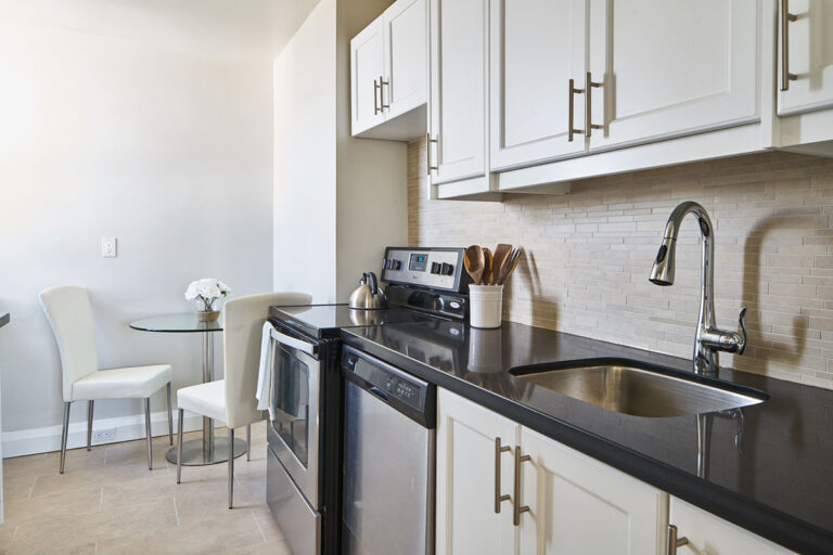 Stainless steel appliances in luxury two bedroom apartment - The Summerhill at Yonge & St. Clair