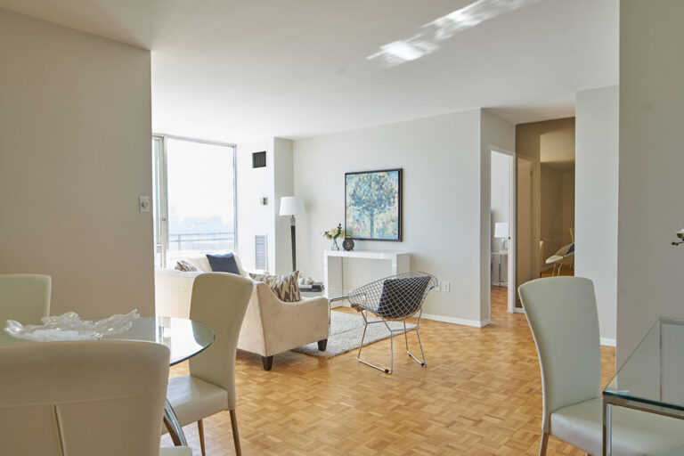 Luxury living room in one bedroom apartment - The Summerhill at Yonge & St. Clair