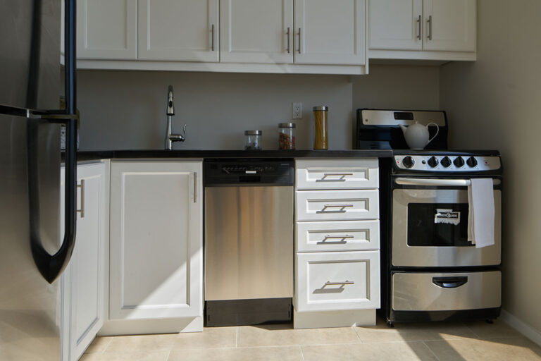 Stainless steel appliances in one bedroom apartment - The Summerhill at Yonge & St. Clair