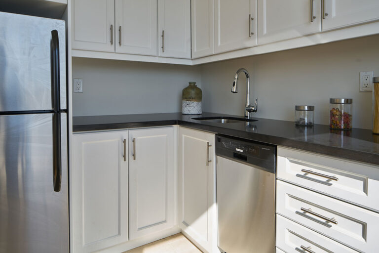Modern countertops in one bedroom apartment - The Summerhill at Yonge & St. Clair