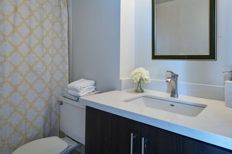 Updated bathroom in one bedroom apartment - The Summerhill at Yonge & St. Clair