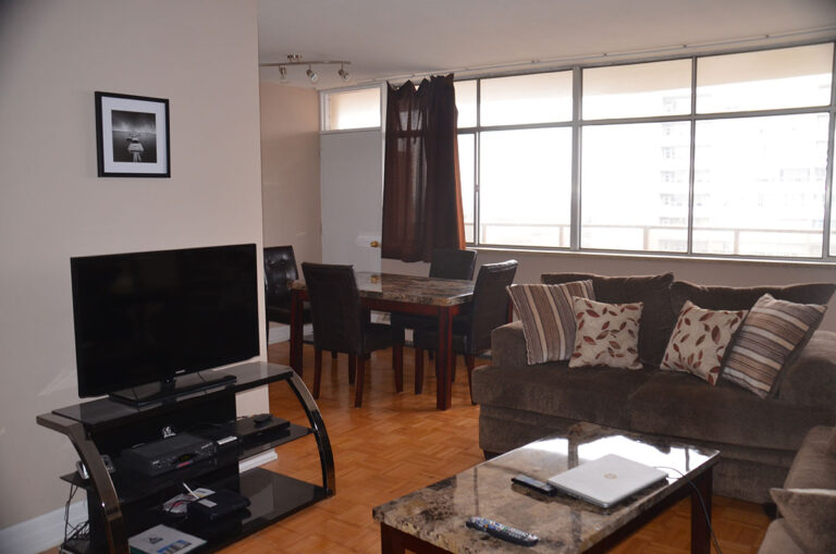 Dining area in three bedroom apartment near Keele & Wilson - Humber River Apartments