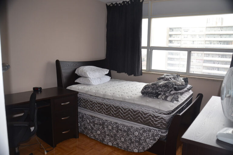 Large bedroom window in three bedroom apartment near Keele & Wilson - Humber River Apartments