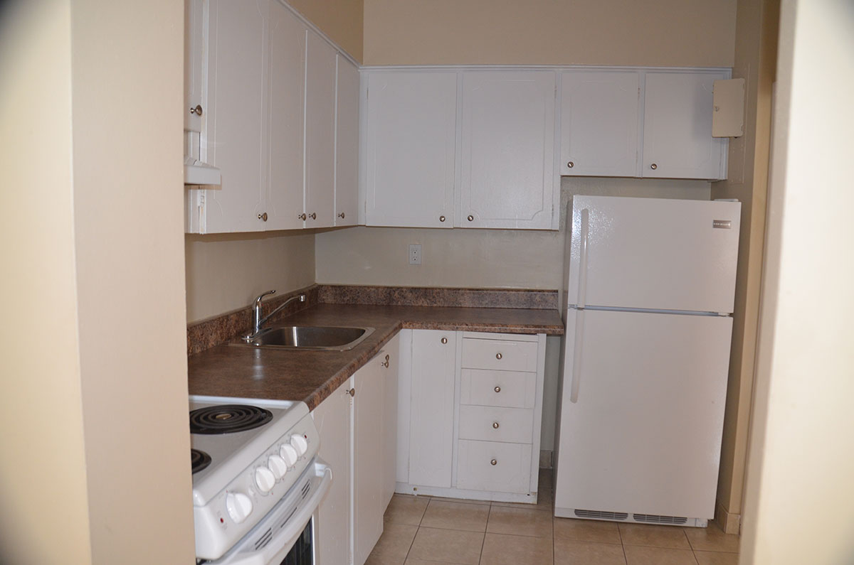 Kitchen in three bedroom apartment near Keele & Wilson - Humber River Apartments