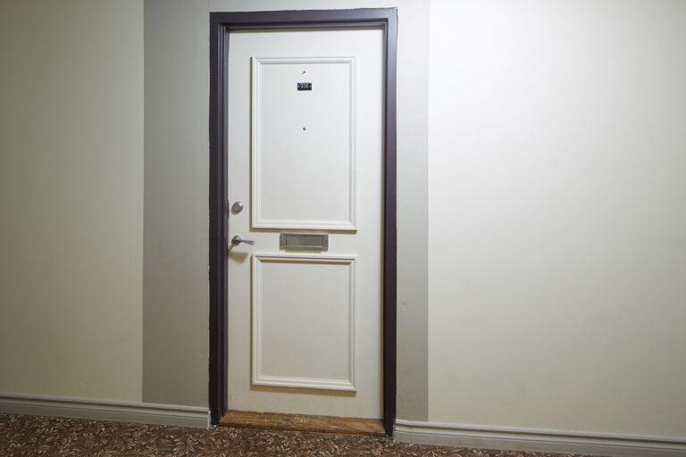 The Park Mills suite door