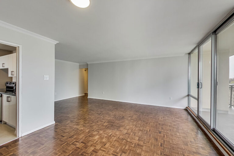 Bright living room in two bedroom apartment - The Summerhill at Yonge & St. Clair