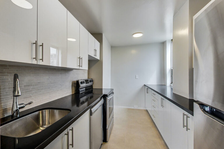 Modern kitchen in luxury two bedroom apartment - The Summerhill at Yonge & St. Clair