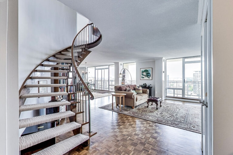 Foyer of penthouse apartment - The Summerhill at Yonge & St. Clair