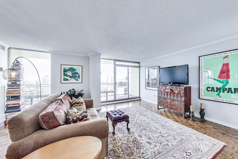 Living space in luxury penthouse apartment - The Summerhill at Yonge & St. Clair