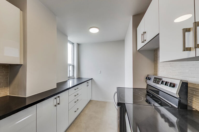 Kitchen with storage in luxury two bedroom apartment - The Summerhill at Yonge & St. Clair