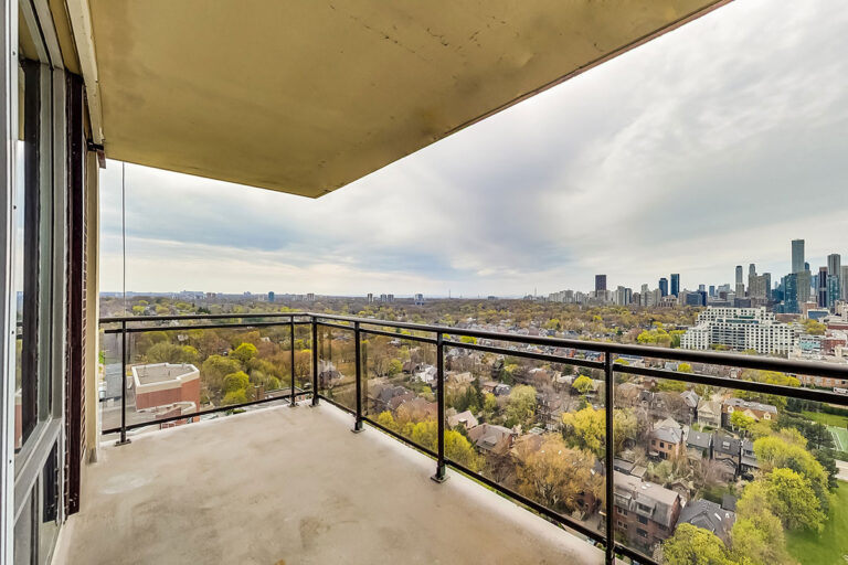 View from luxury two bedroom apartment - The Summerhill at Yonge & St. Clair