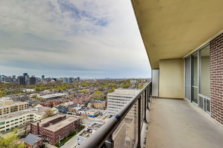 Balcony for luxury two bedroom apartment - The Summerhill at Yonge & St. Clair