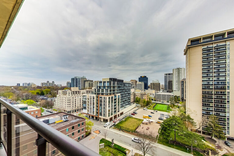 City view from The Summerhill luxury apartments at Yonge & St. Clair