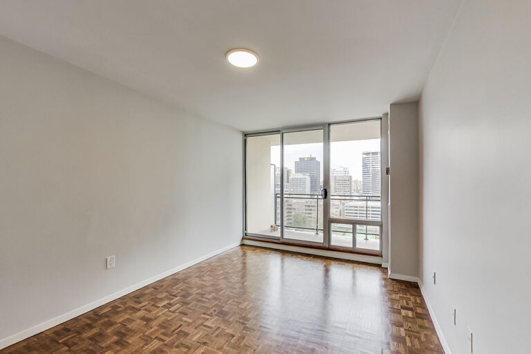 Master bedroom in luxury two bedroom apartment - The Summerhill at Yonge & St. Clair