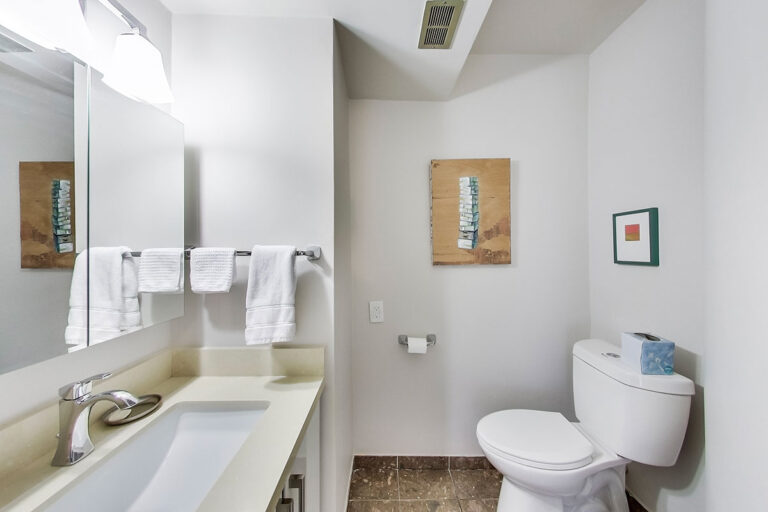 Powder room in luxury penthouse apartment - The Summerhill at Yonge & St. Clair