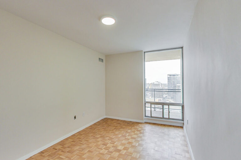 Bright bedroom in jr. one bedroom apartment - The Summerhill at Yonge & St. Clair