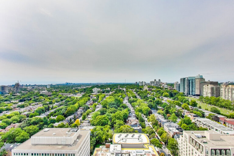 View from penthouse apartment - The Summerhill at Yonge & St. Clair