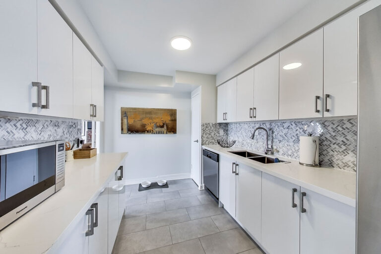Modern kitchen in luxury penthouse apartment - The Summerhill at Yonge & St. Clair