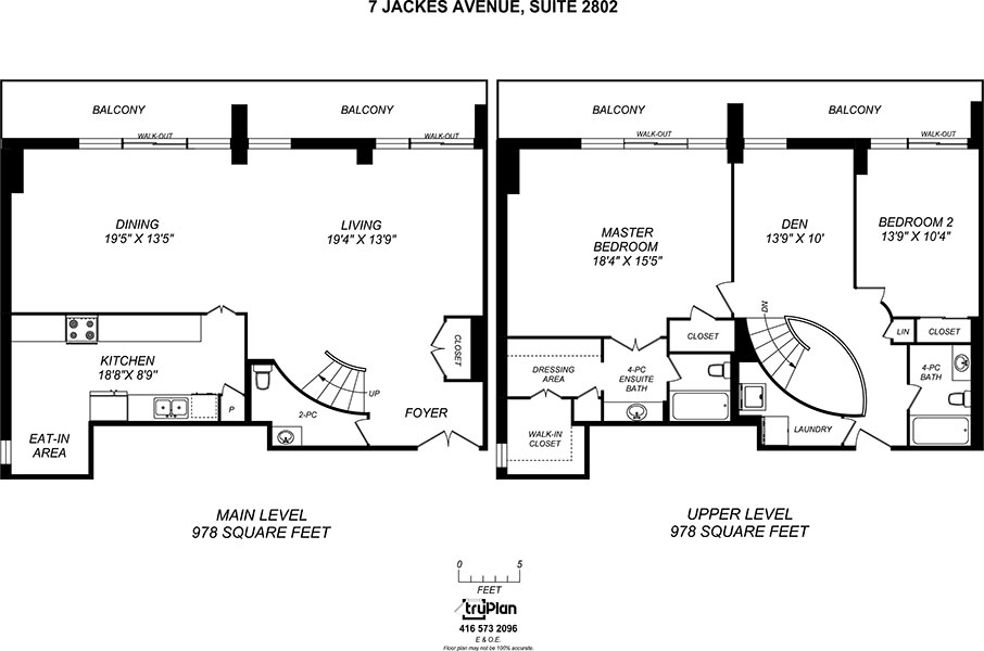Floorplan for two level penthouse - The Summerhill at Yonge & St. Clair
