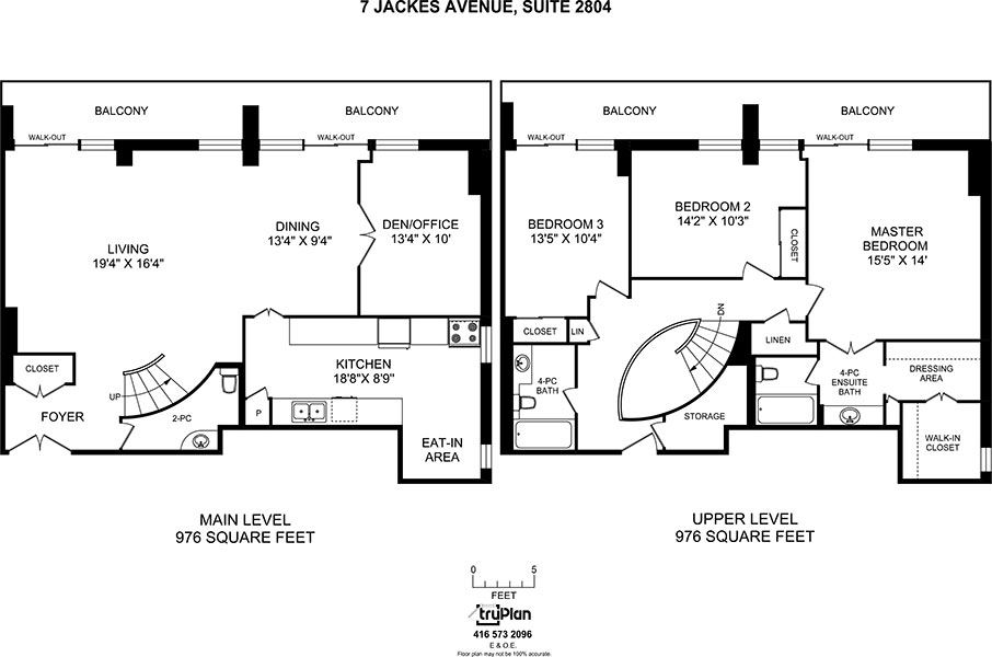 Floorplan for three bedroom penthouse - The Summerhill at Yonge & St. Clair