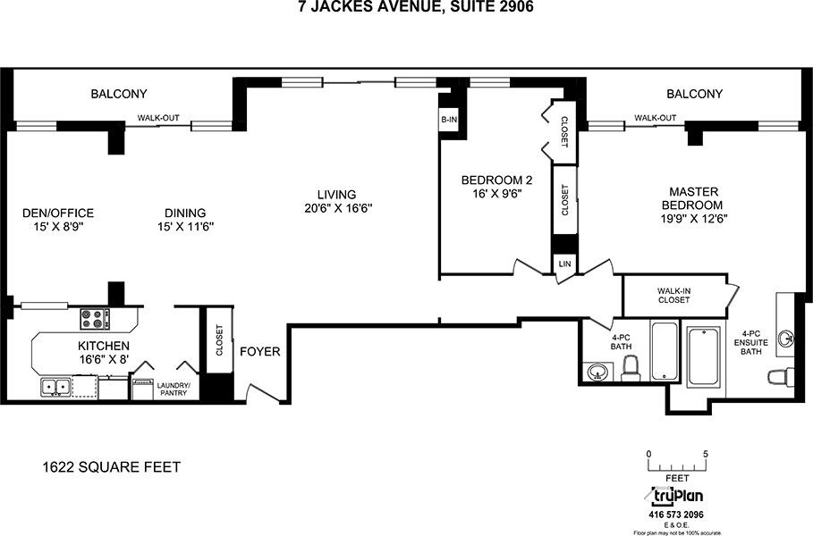 Floorplan for two bedroom penthouse - The Summerhill at Yonge & St. Clair